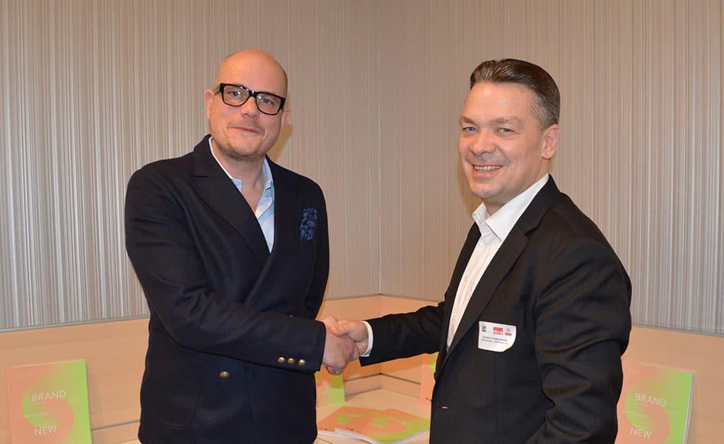 Jan Kalbfleisch (Geschäftsführer des FAMAB, l.) und Christian Seidenstücker (President ILEA Europe Chapter) auf der Best of Events 2018