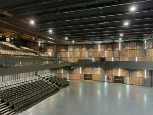 Seitenperspektive der Samsung Hall Zürich