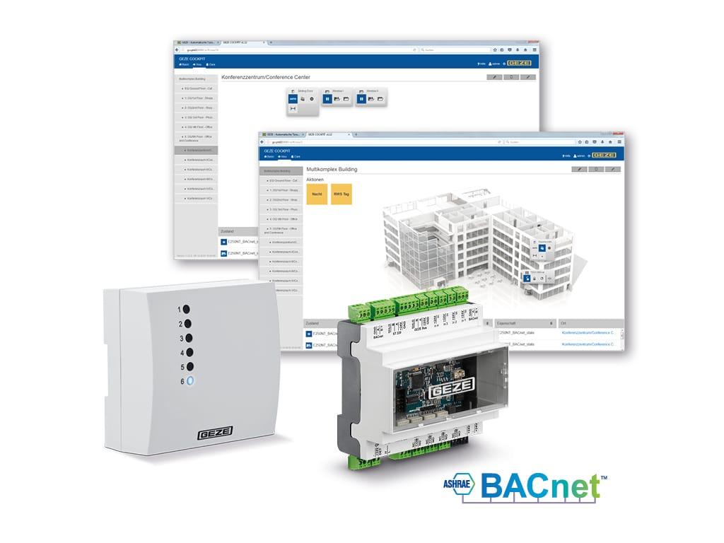 BACnet-Gebäudeautomationssystem Geze Cockpit