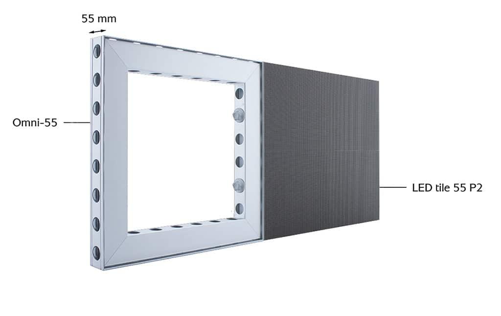 LED tile 55 P2 von Aluvision