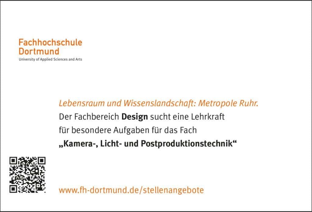 Stellenanzeige Fachhochschule Dortmund