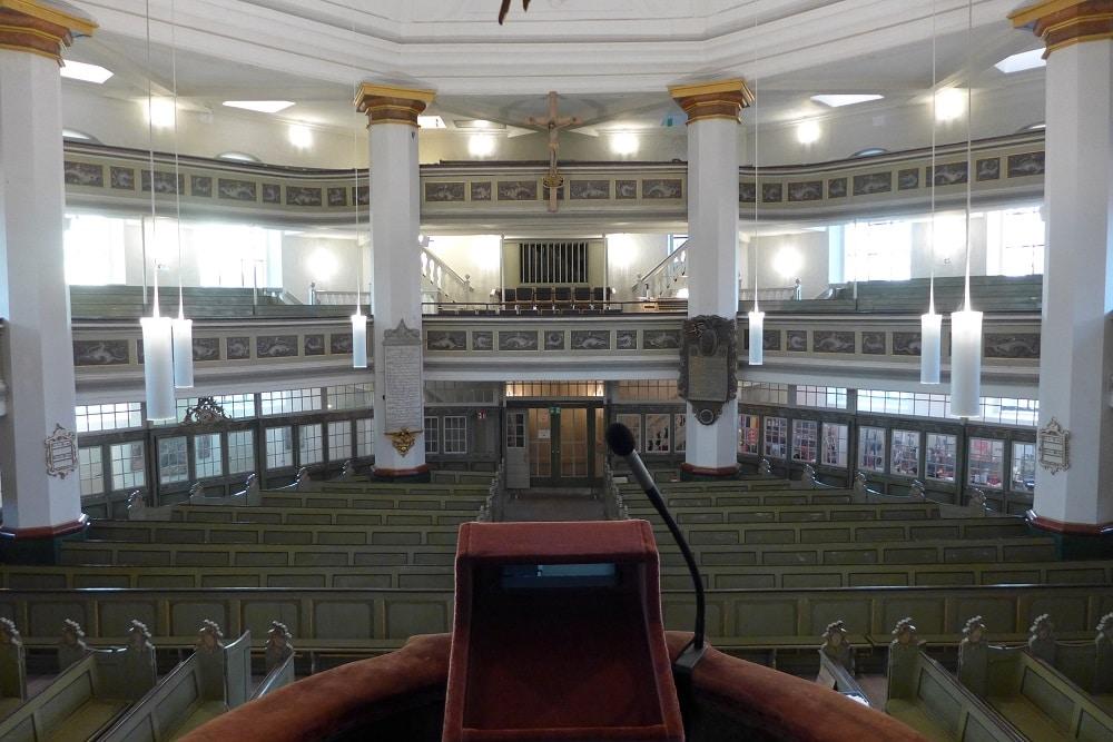 Blick von der Kanzel Rellinger Kirche