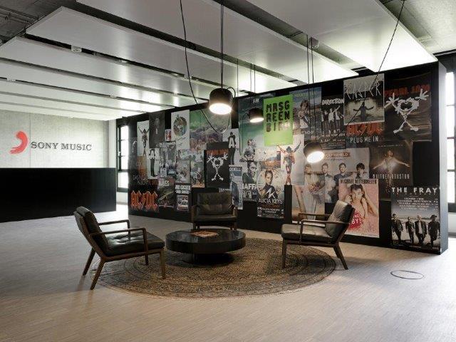 Beispiel für die Büroneugestaltung von CSMM bei Sony Music Entertainment München