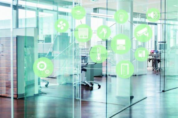 Im Smart Building greifen immer mehr Gebäudefunktionen ineinander.