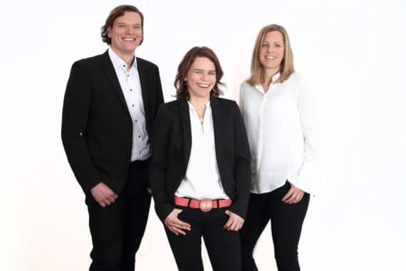 Oliver Brixel, Cosima Steinhilper und Carolin Nagel (v.l.)