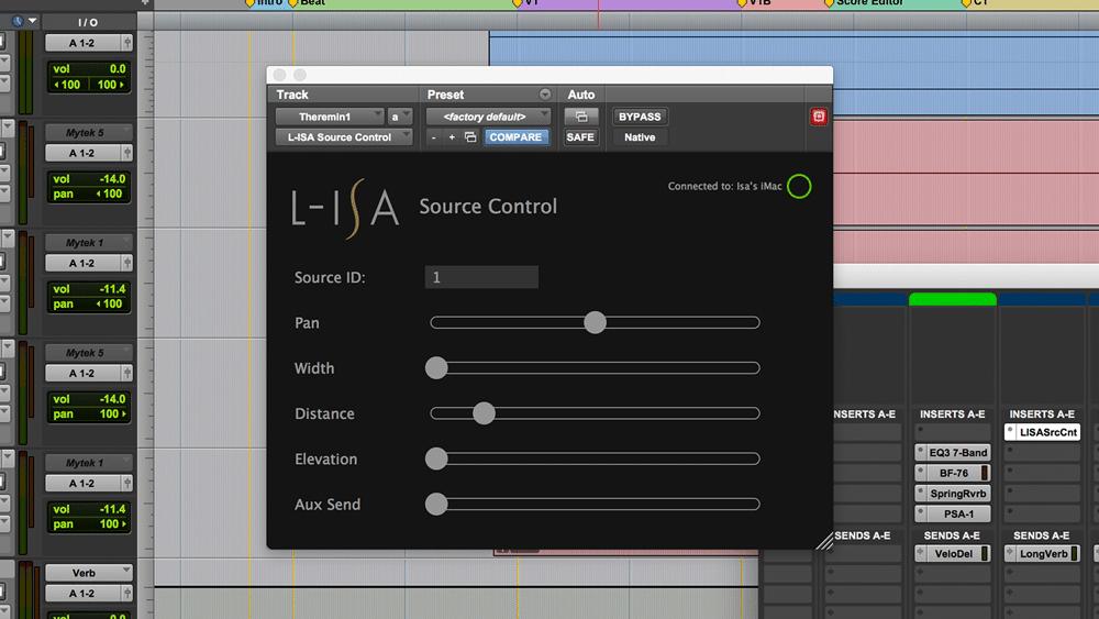 L-ISA Control Plugin Pro Tools