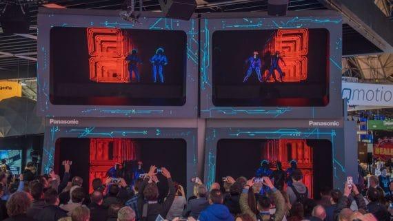 Holografische Tanzshow Panasonic