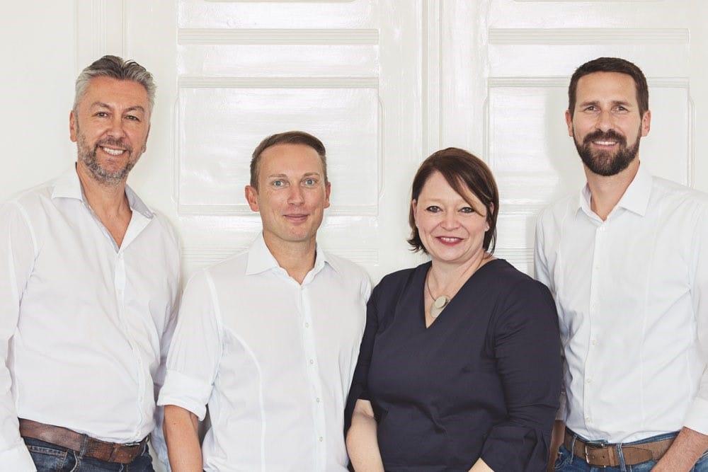 Markus Haase, Jan Rogozinski, Barbara Braschoß und Kim Meisinger (v.l.)