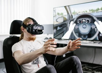 David Kuri ist VR-Developer bei Volkswagen und arbeitet im Virtual Engineering Lab der Konzern-IT.