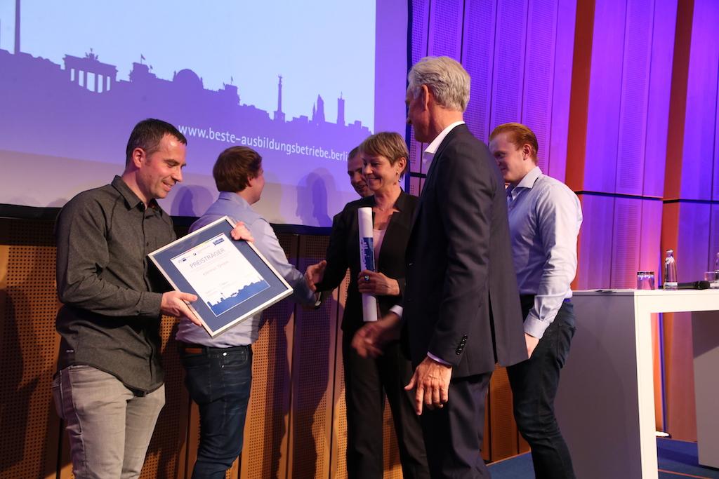 Berlins beste Ausbildungsbetriebe 2018