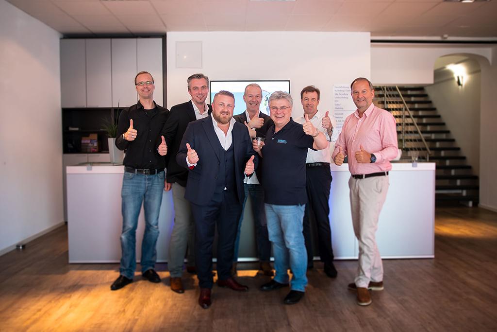 Team aus Gahrens+Battermann und der Hamburger Showtechnik HST