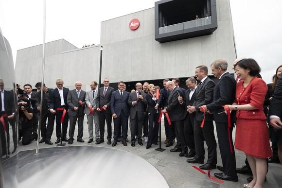 Die Leica Camera AG feiert die Eröffnung des neuen Leitz-Park Areals in Wetzlar.