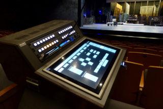 Kleines, mobiles Inspizientenpult im Theater Vanemuine