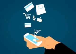 Mobile Shopping Grafik