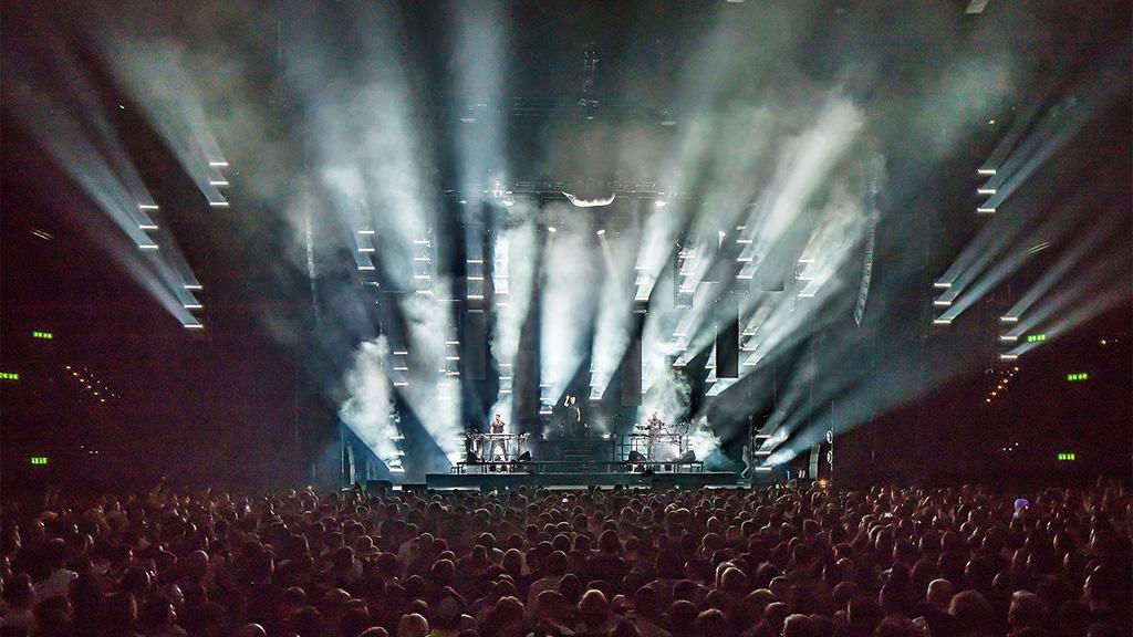 Blick auf die Bühne bei der aktuellen Tour von Scooter
