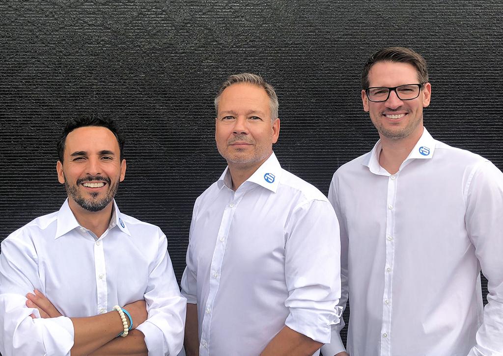 Neue Mitarbeiter für das Vertriebsteam der Adam Hall Group: Gabriel Medrano, Markus Jahnel und Marcel Mieger
