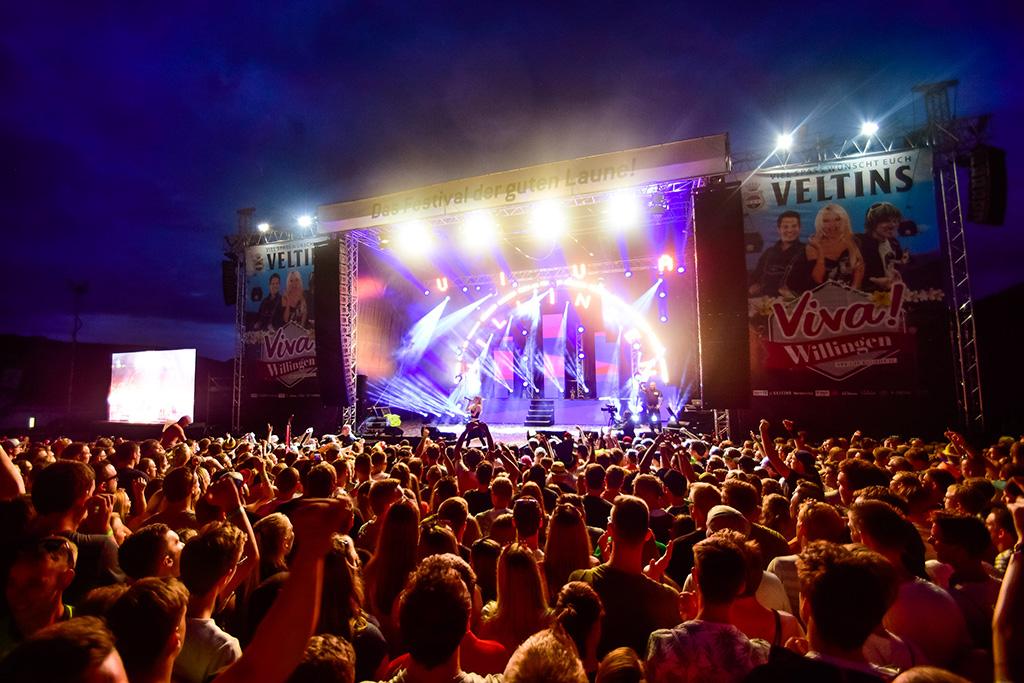 Blick auf die Bühne des Festivals Viva Willingen