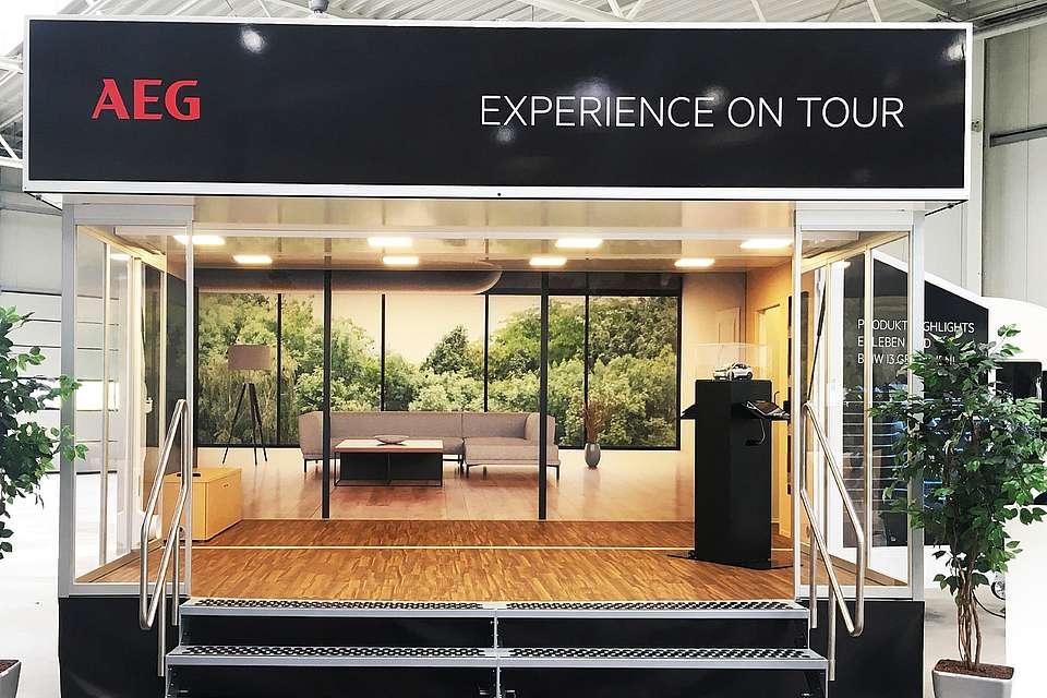 Cube.expo-Anhänger, hier für die AEG Experience-Tour 2018