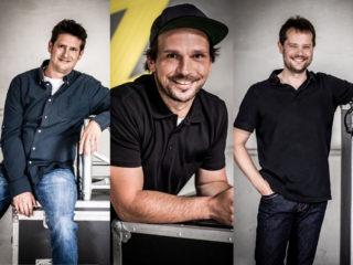 Andreas Süssmann, Oliver Grimm, Felix Kahn sind neue Mitarbeiter bei Limelight Veranstaltungstechnik