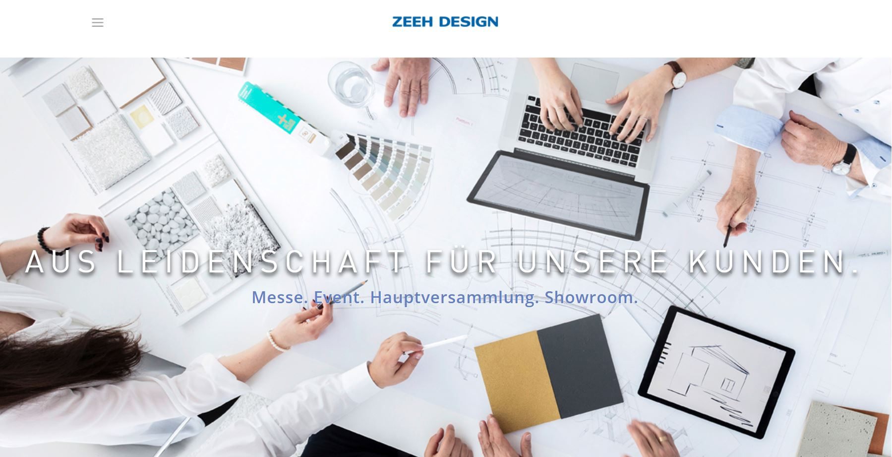 Screenshot der Zeeh Design Website