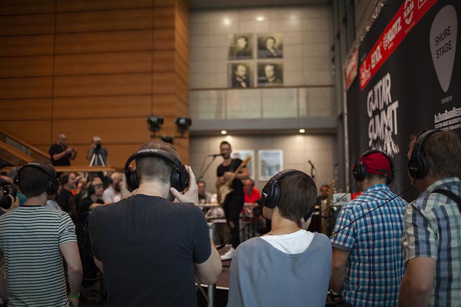 Guitar Summit 2018 Shure Silent Stage Rosengarten Mannheim