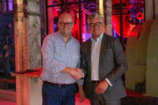 Gerald Pott (l.), Geschäftsführer Grand Hall Zollverein und Johannes Molderings, Geschäftsführer lemonpie