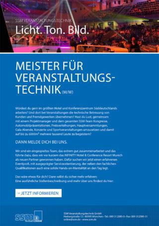 Stellenausschreibung Meister für Veranstaltungstechnik_SSM
