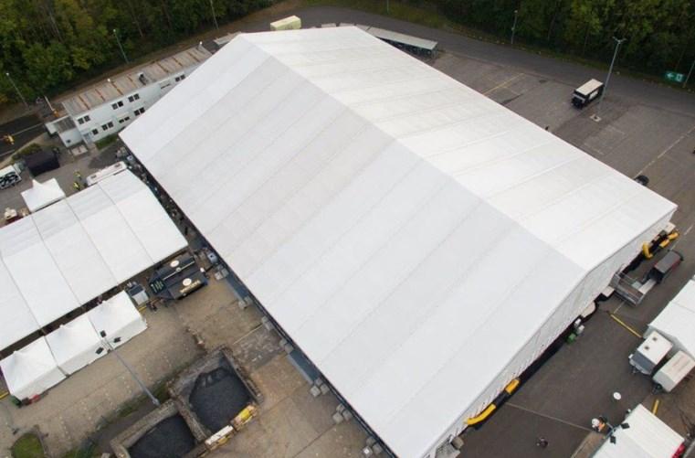 Die Jumbo-Zelthalle von Losberger De Boer
