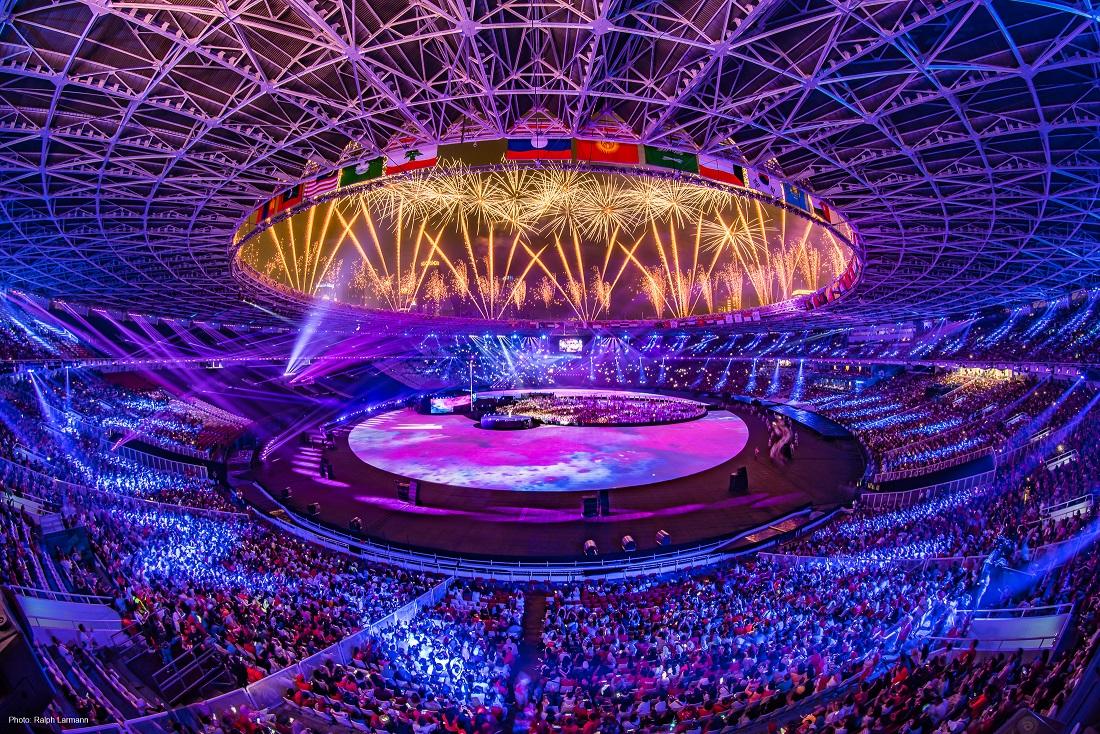 Pyroshow bei den Asian Games 2018
