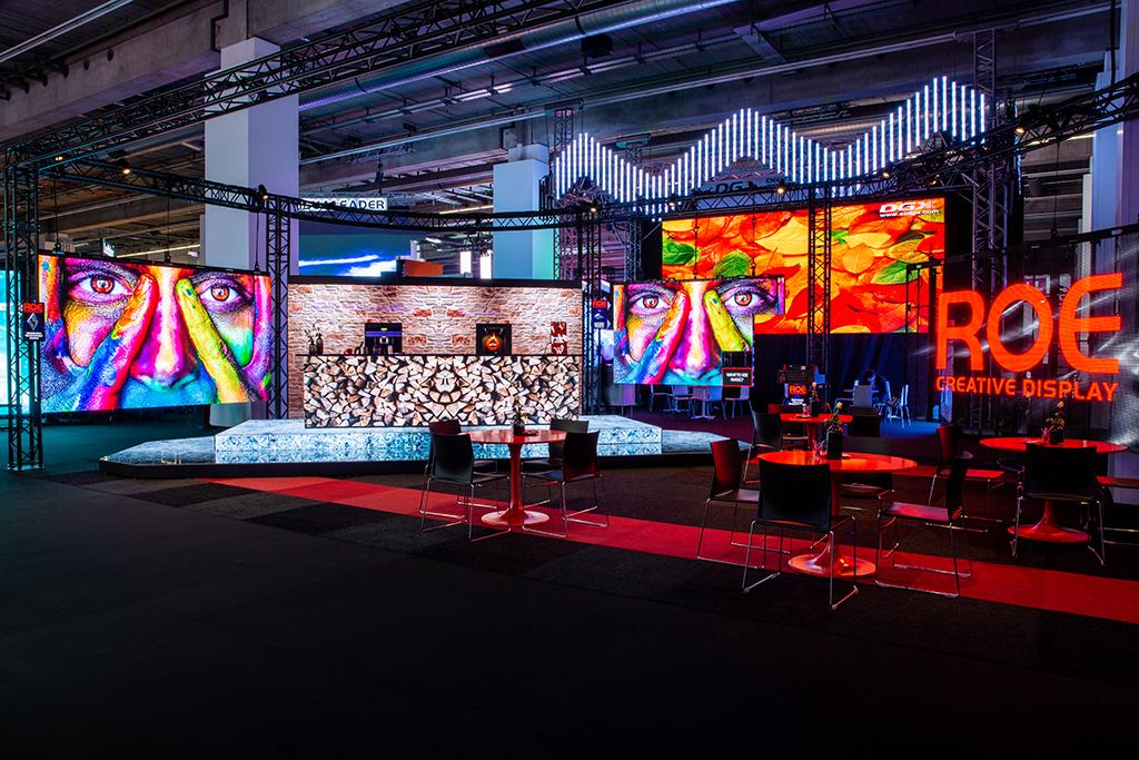 Messestand von ROE Visual auf der Prolight+Sound 2019 in Halle 4.0