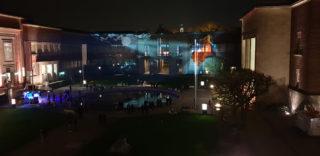 Fassadenprojektion bei der Langen Nacht der Museen in Düsseldorf