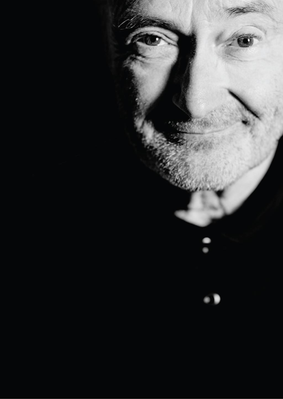 Pressefoto Phil Collins schwarz-weiß
