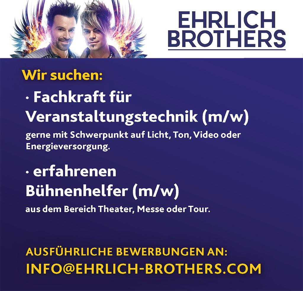 Stellenanzeige Ehrlich Brothers