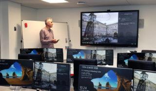 Mersive Solstice an der Edinburgh University; Stephen Dishon - Development Team Manager