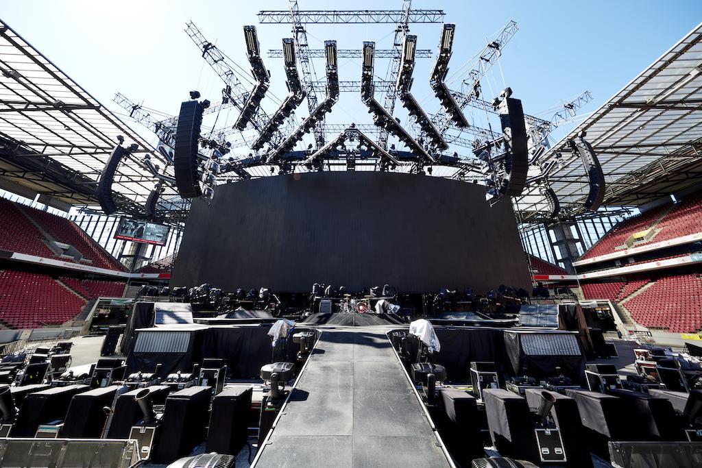 Bühnenbau von Stageco für Muse