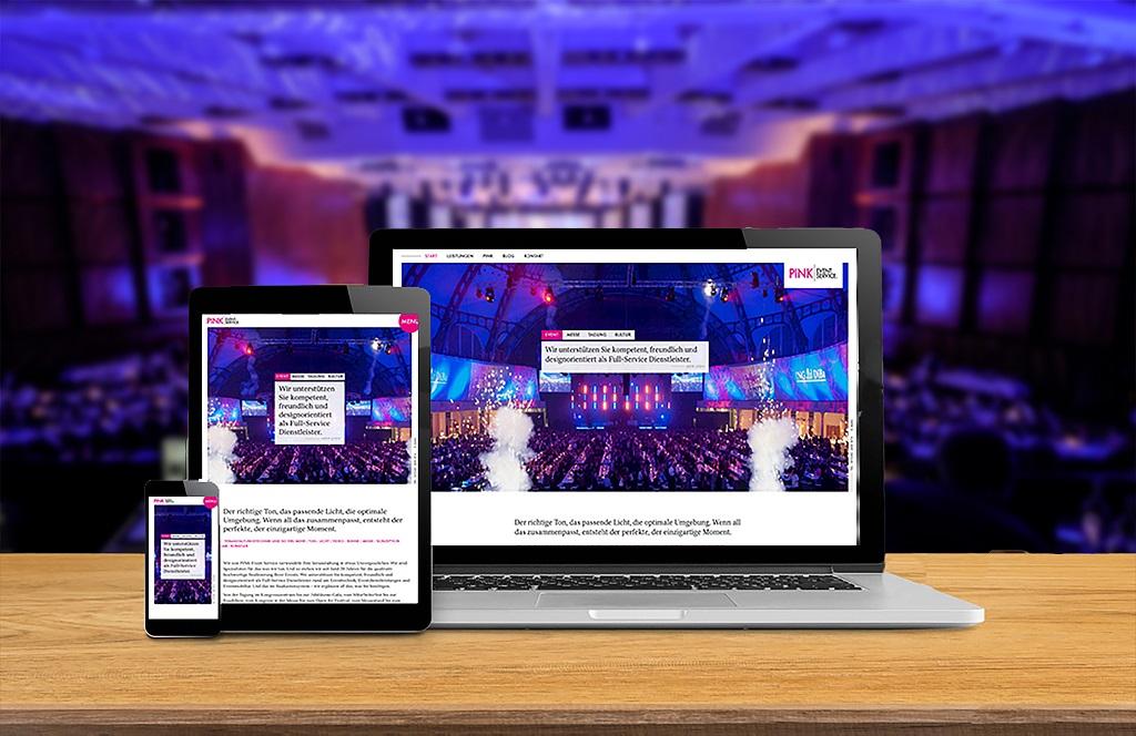 Neue Website Eventagentur und Veranstaltugstechnik Pink Event Service