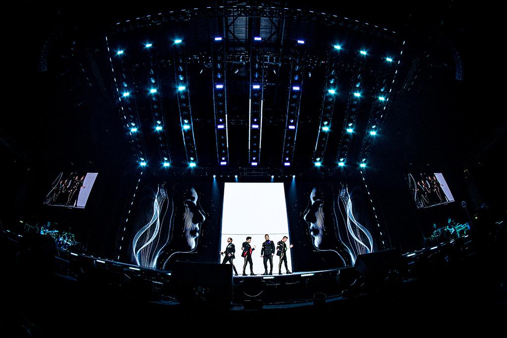 Bühne bei The Twenty Tour von Westlife