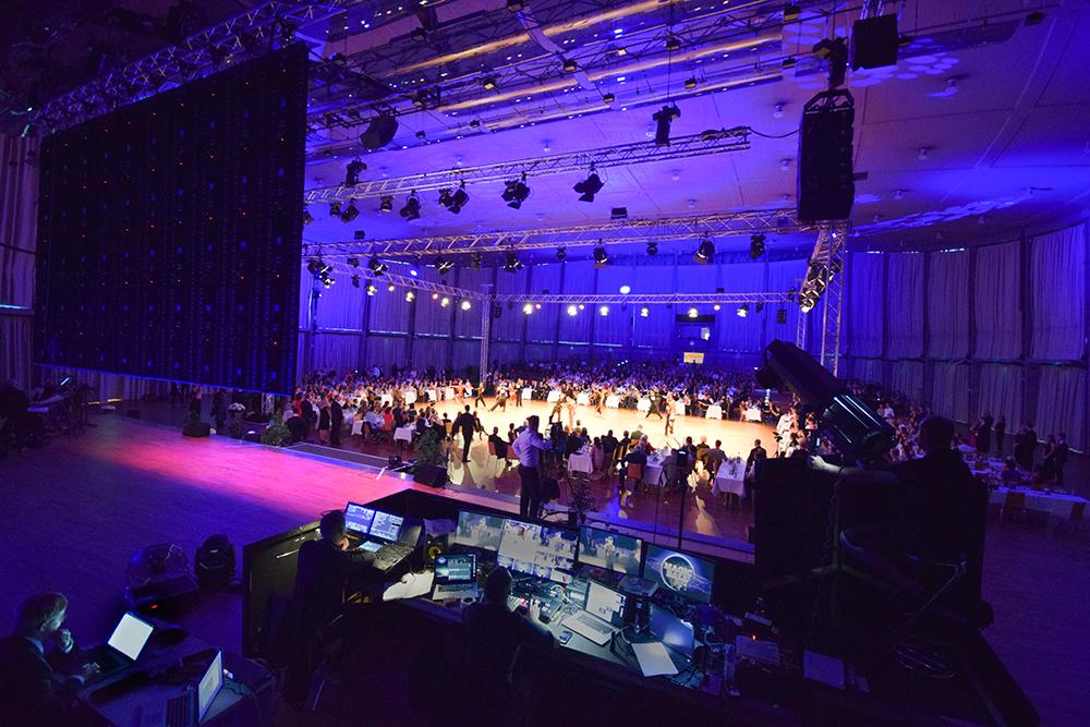 Magic Ball Europameisterschaft Latin Dance Schwarzwaldhalle Kongresszentrum Karlsruhe Messe Karlsruhe - Veranstaltungstechnik von PINK Event Service aus Karlsruhe und Frankfurt