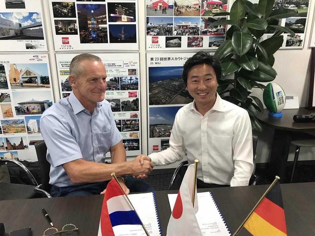 Losberger De Boer Vertragsunterzeichung olympische Spiele Tokio