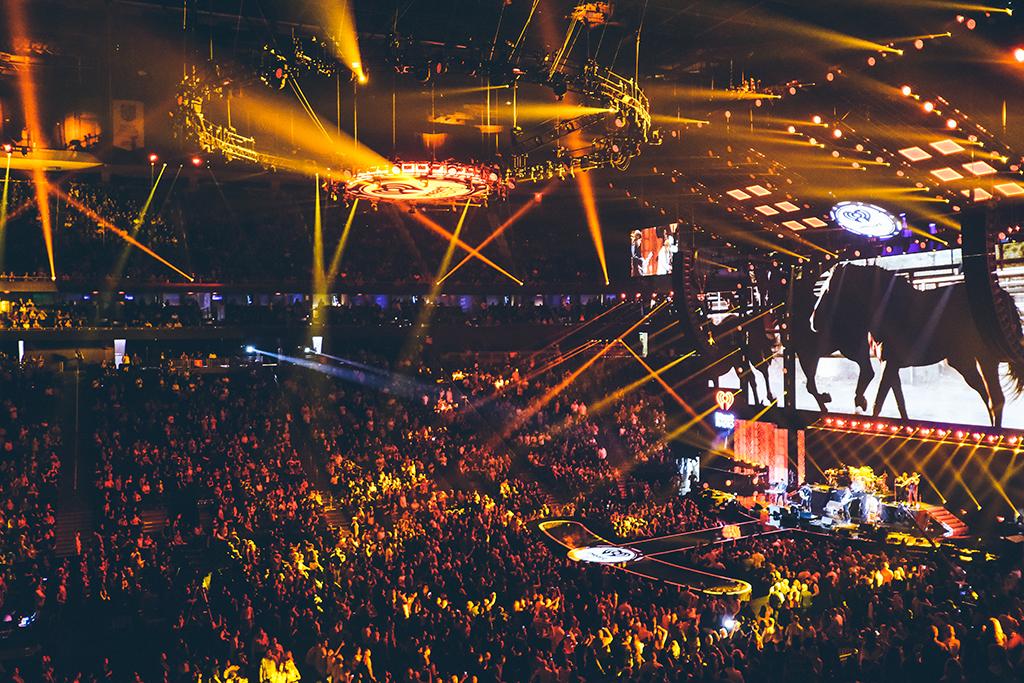 Mumford & Sons beim iHeart Radio Musikfestival in Las Vegas