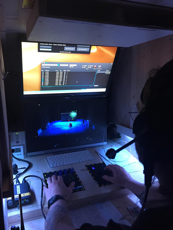 Operator mit Follow-Me-System