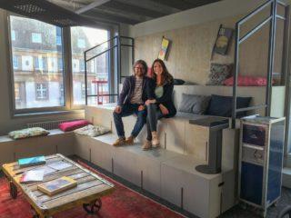 Daniel Schuch, Leiter Vertrieb und Marketing Pink Event Service und Denise Leypoldt, General Manager Design Offices