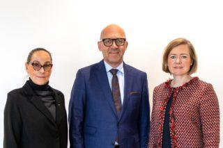 KM-Vorstand (v. l.): Constanze Kreuser (RAM Regio Ausstellungs GmbH Erfurt), Klaus Dittrich (Messe München GmbH) und Britta Wirtz (Karlsruher Messe- und Kongress GmbH)
