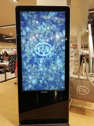 Promoscreen bei C&A