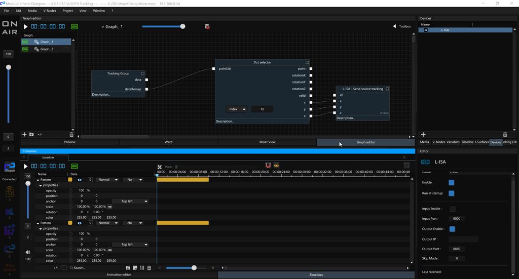 Modulo Kinetic Benutzeroberfläche von Modulo Pi
