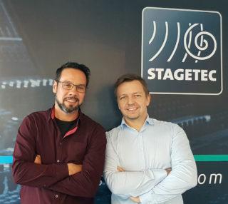 Die neue Geschäftsleitung bei Stage Tec: Sascha Khelifa (l.) und René Harder (r.)