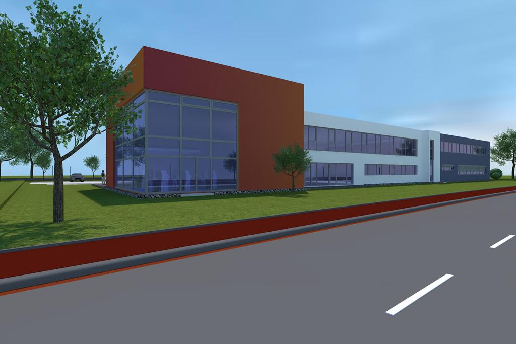Visualisierung des Neubaus