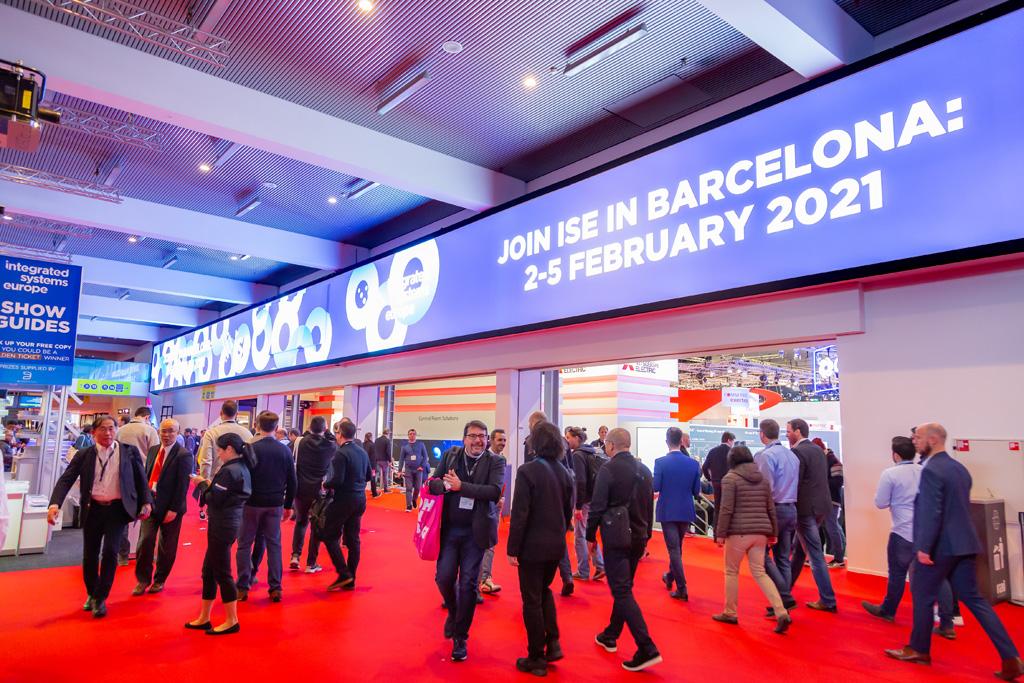 LED-Banner Werbung für die ISE 2021