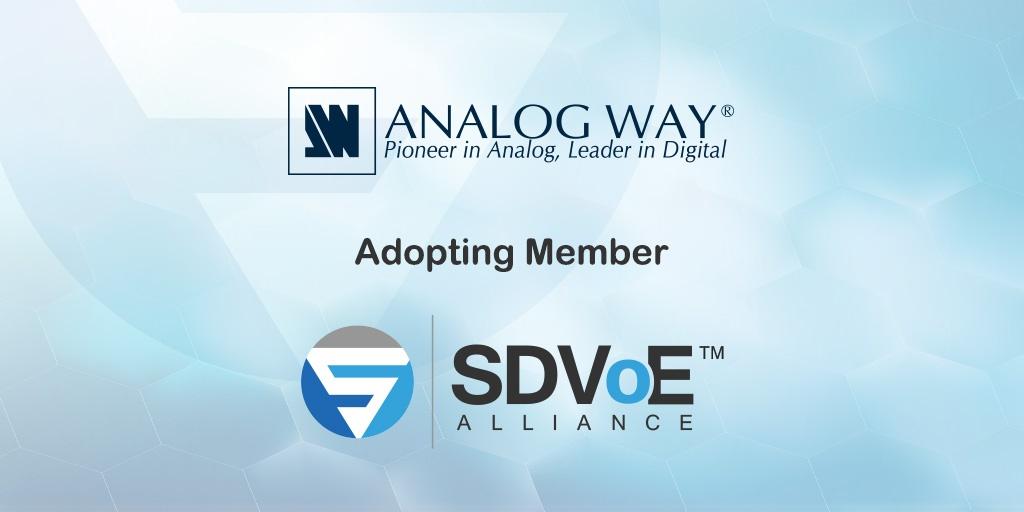 Analog Way neu bei der SDVoE