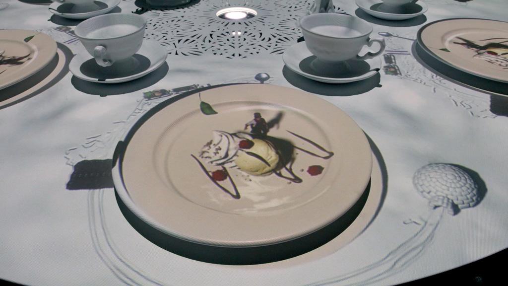 Projektion auf einen Teller